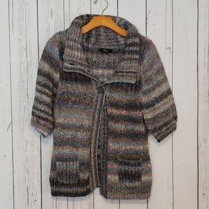 Express Button Front Sweater Cardigan Medium